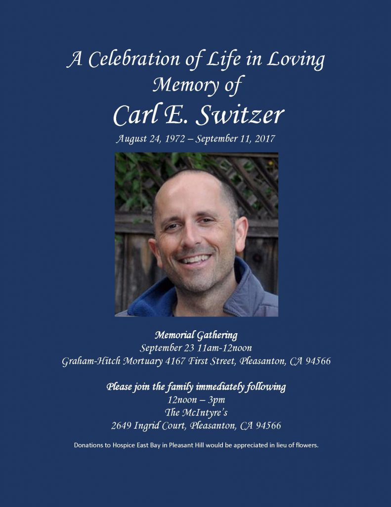 Memorial Gathering for Carl Switzer @ Graham-Hitch Mortuary | Pleasanton | California | United States
